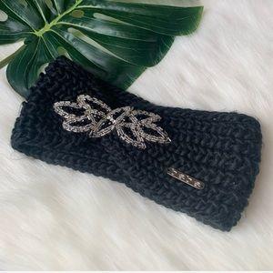 Bebe chunky knit beaded beanie headband